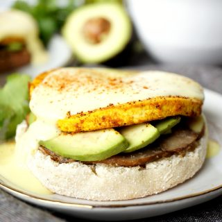 vegan avocado & mushroom eggs benedict | The Baking Fairy #PAMAvocadoPump #ad