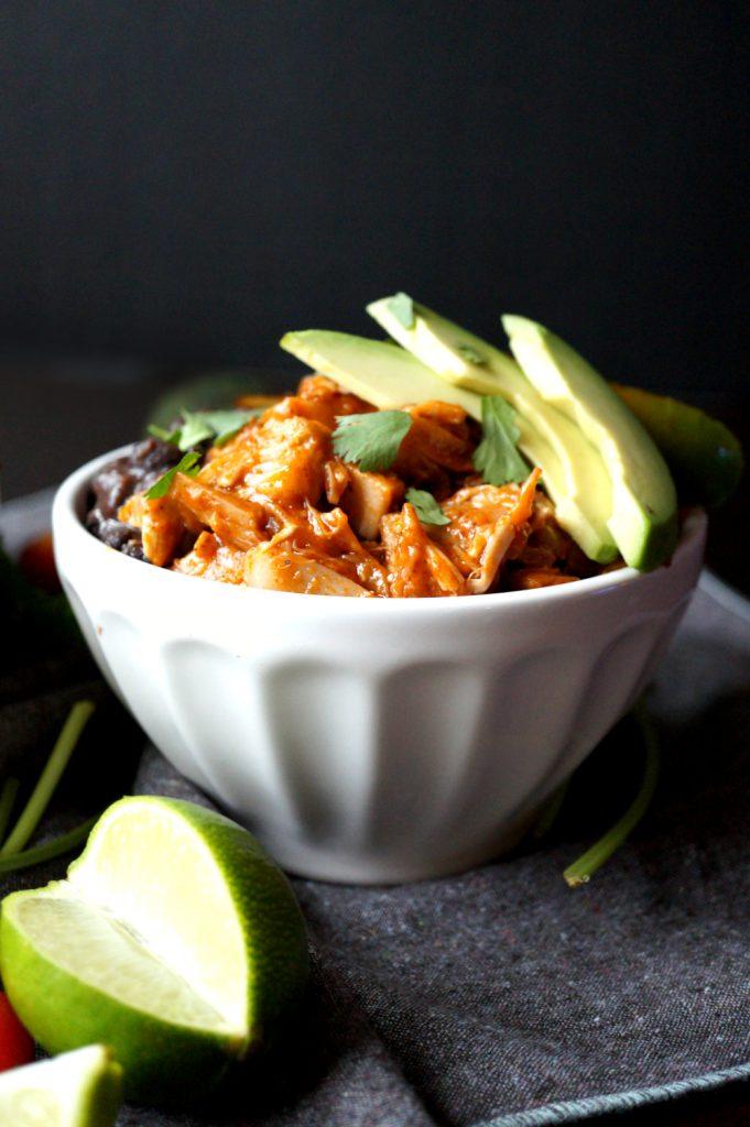vegan burrito bowls with jackfruit carnitas | The Baking Fairy