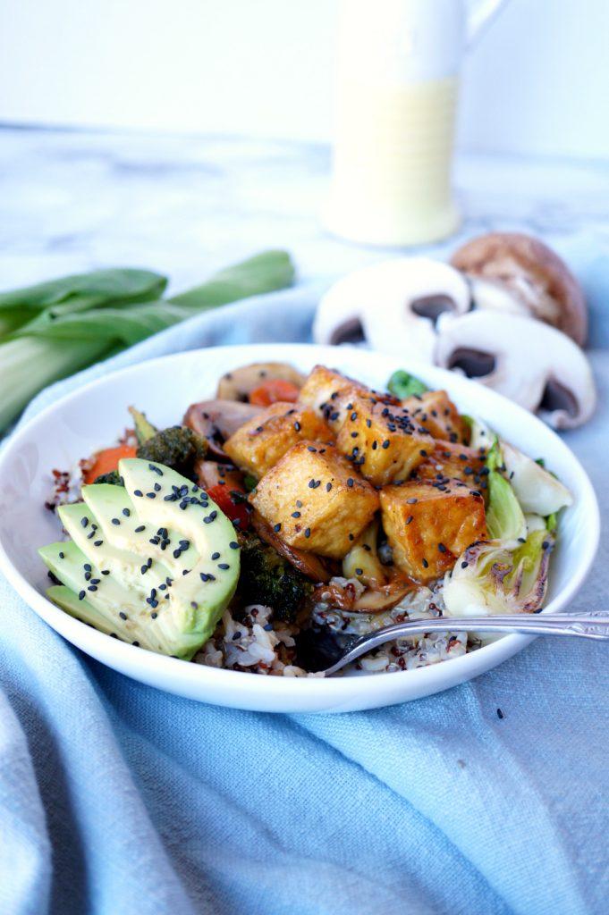 teriyaki tofu quinoa bowls | The Baking Fairy