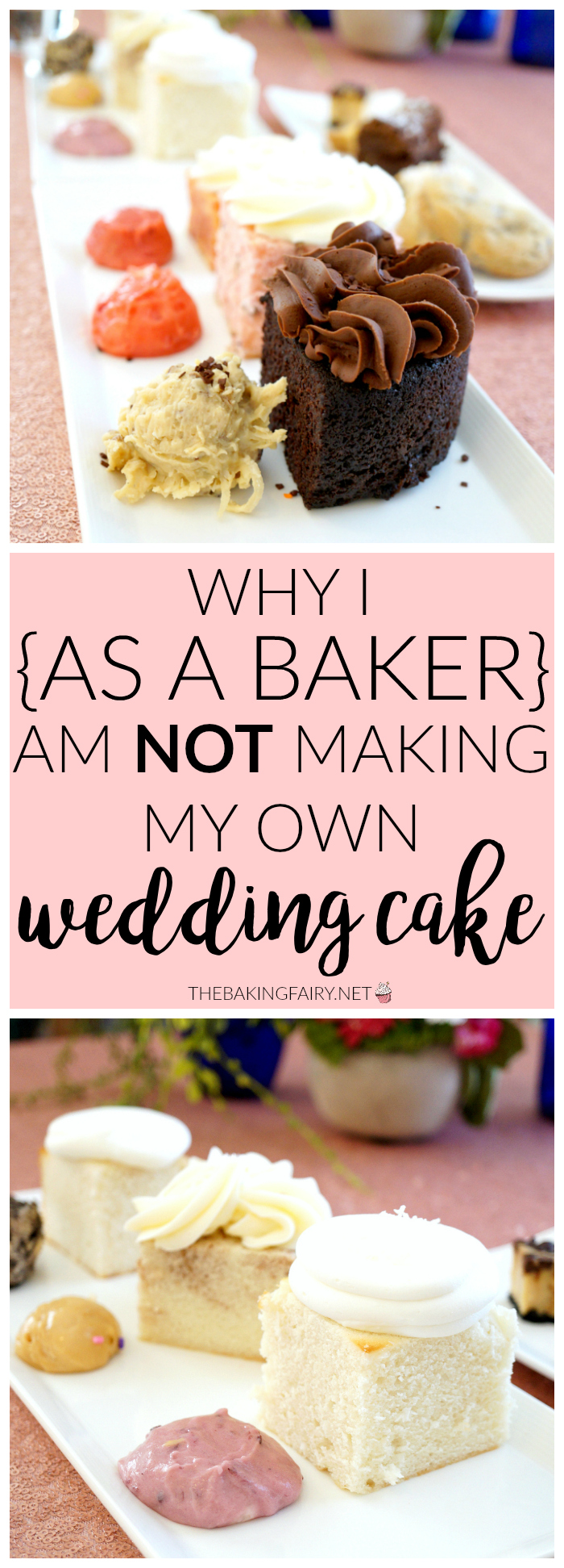 why I {as a baker!} chose NOT to make my wedding cake | The Baking Fairy