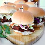 vegan BBQ jackfruit sliders with green apple slaw | The Baking Fairy
