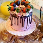 vegan chocolate covered strawberry cake & bridal shower | The Baking Fairy