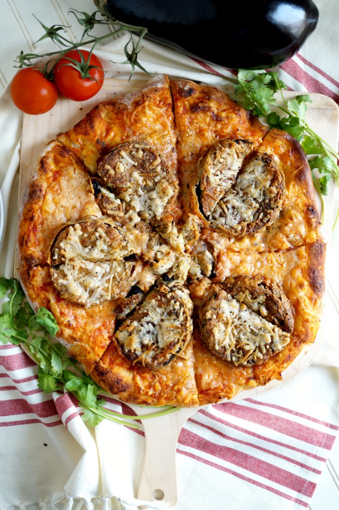 vegan eggplant parmesan pizza | The Baking Fairy