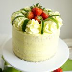 vegan strawberry lime layer cake | The Baking Fairy