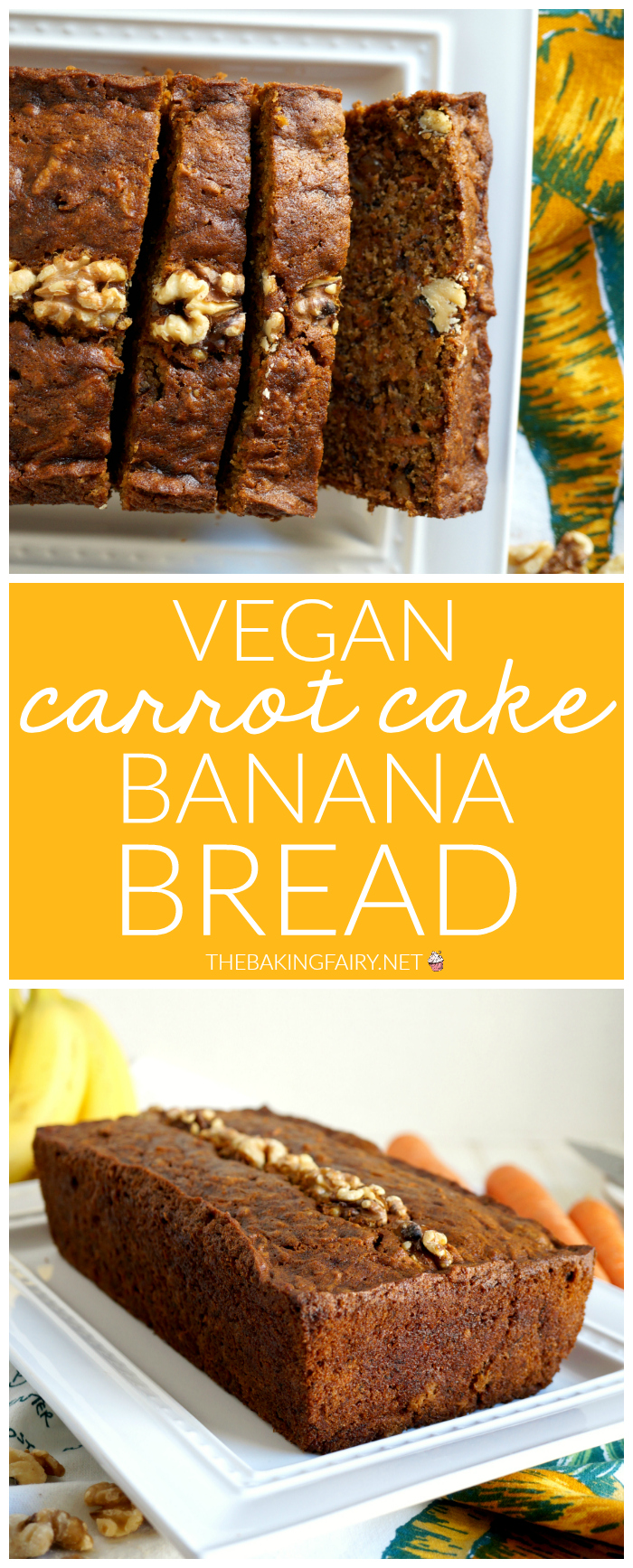 vegan carrot cake banana bread   The Baking Fairy