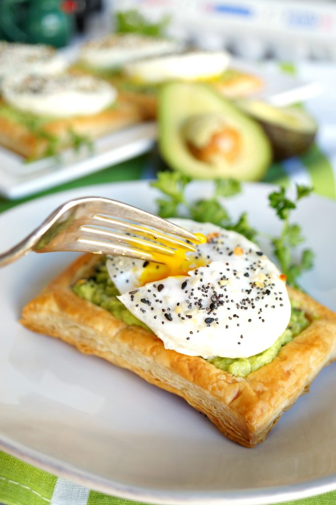 avocado toast puff pastry squares | The Baking Fairy #ad #EasterBrunchWeek