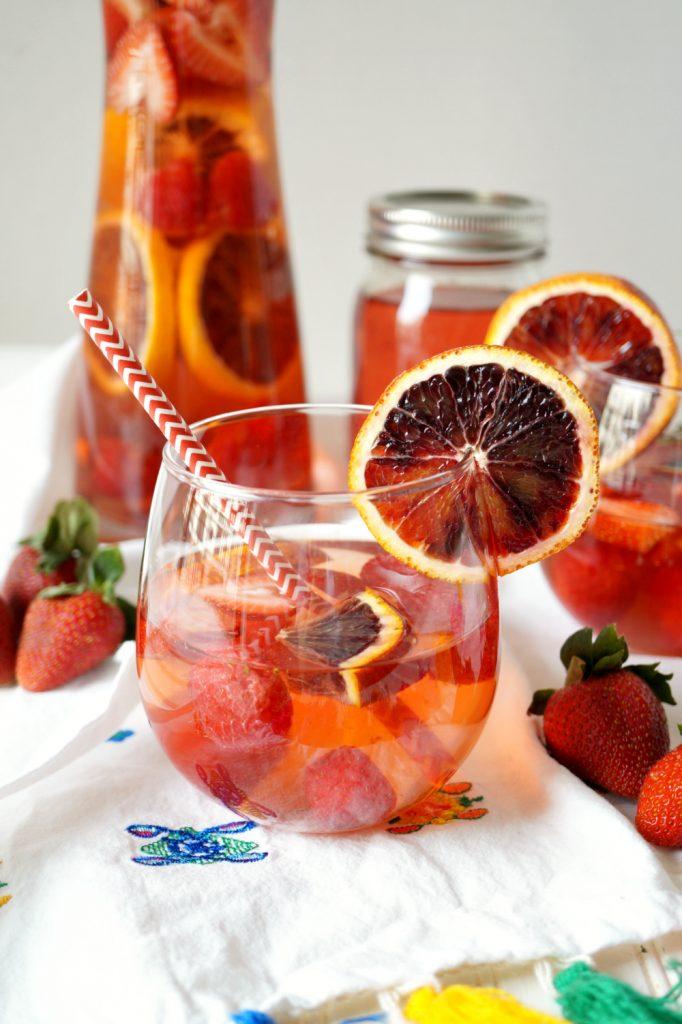 blood orange berry sangria   The Baking Fairy #ad #EasterBrunchWeek