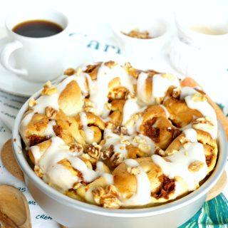 vegan carrot cake cinnamon rolls | The Baking Fairy #ad #EasterBrunchWeek