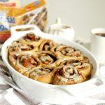 vegan coffee cinnamon rolls | The Baking Fairy #ad #BrunchWeek