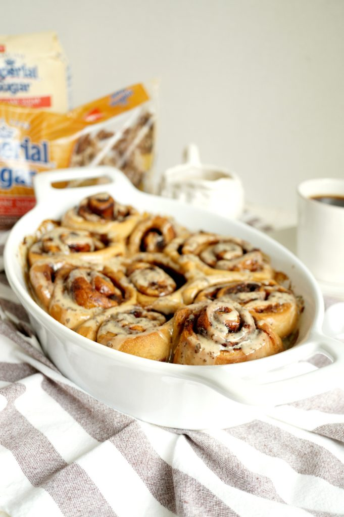 vegan coffee cinnamon rolls | The Baking Fairy #ad #BrunchWeek