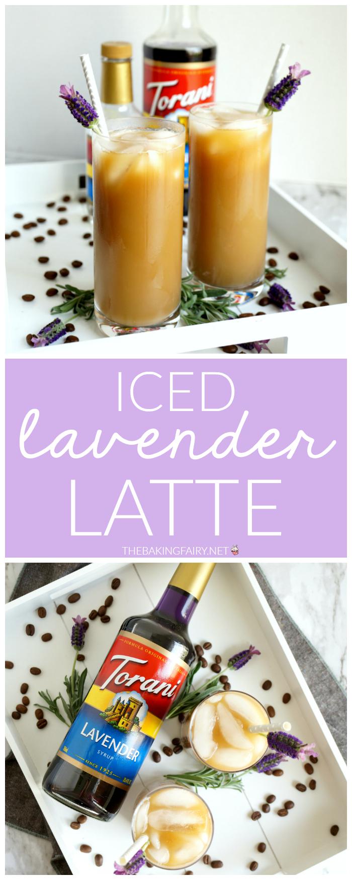 iced lavender latte | The Baking Fairy #ad #BrunchWeek