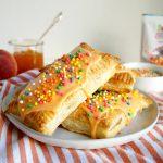 vegan mango peach toaster pastries | The Baking Fairy #ad #BrunchWeek