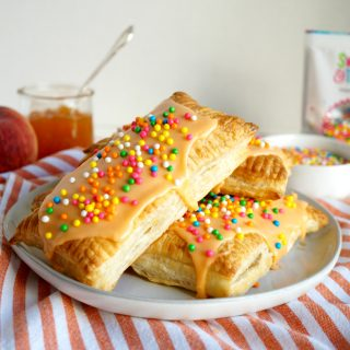 vegan mango peach toaster pastries | The Baking Fairy #ad #BrunchWeek
