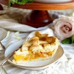 vegan peach basil pie | The Baking Fairy