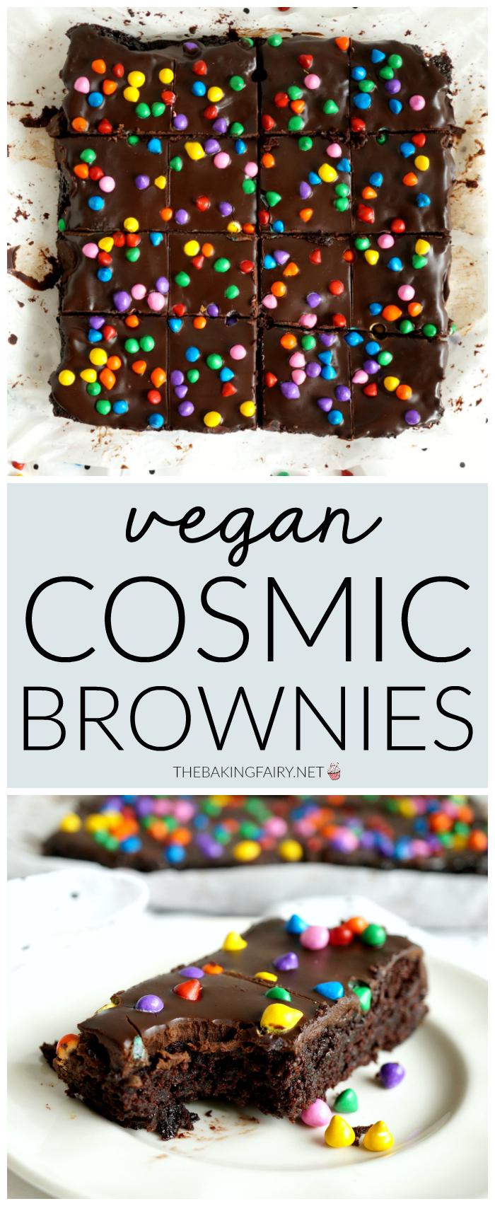 vegan homemade cosmic brownies | The Baking Fairy | The