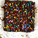 homemade cosmic brownies from above