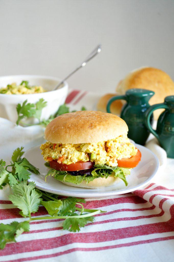 tofu egg salad sandwich