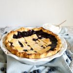 photo of blueberry coconut pie