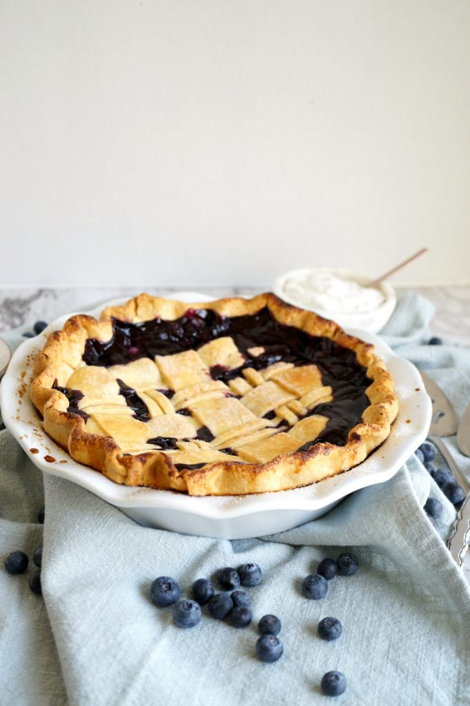 photo of blueberry coconut pie