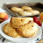 strawberry peach hand pies on a plate