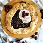 chocolate cherry galette overhead