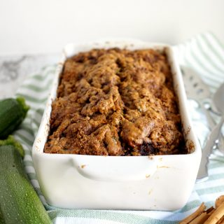 loaf of vegan zucchini bread