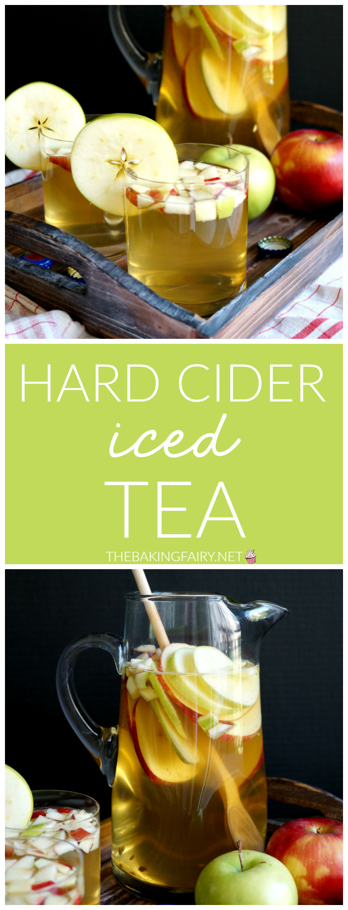 hard cider iced tea | The Baking Fairy #AppleWeek