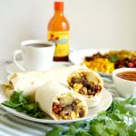 plate of breakfast burritos