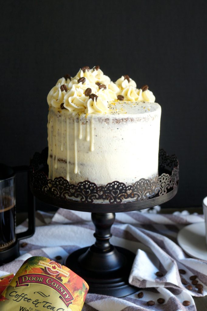 vegan coffee layer cake | The Baking Fairy #FallFlavors