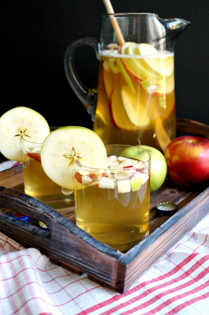 hard cider iced tea | The Baking Fairy #AppleWeek