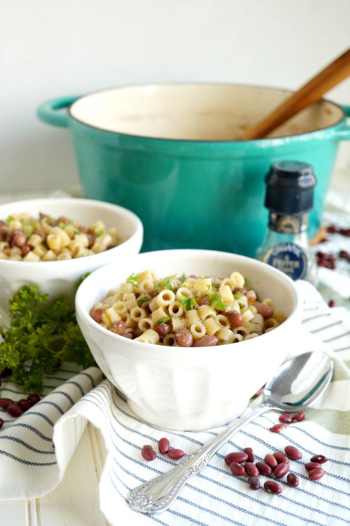 bowl of pasta e fagioli