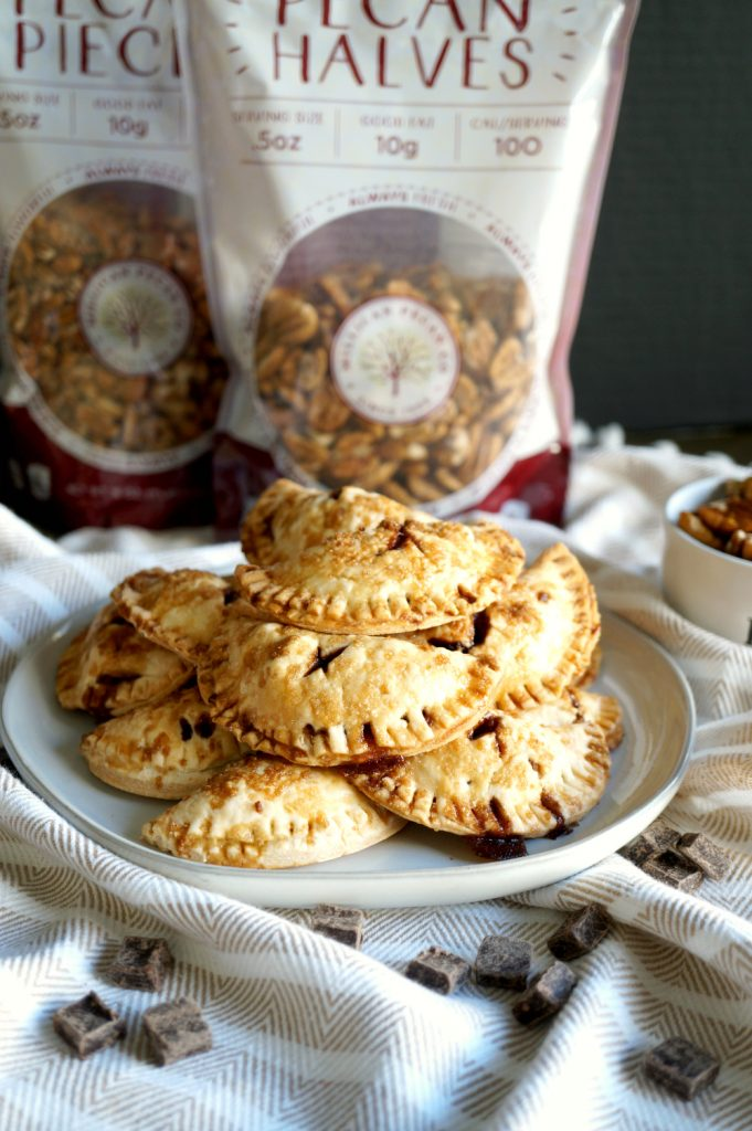 mini vegan chocolate pecan hand pies | The Baking Fairy #FallFlavors #ad