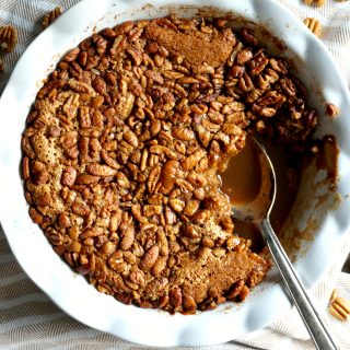 the easiest vegan pecan pie cobbler | The Baking Fairy
