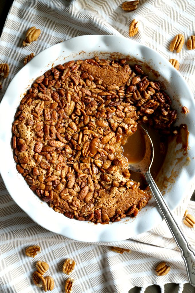 the easiest vegan pecan pie cobbler | The Baking Fairy