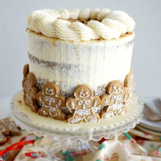 vegan gingerbread layer cake | The Baking Fairy #ChristmasSweetsWeek