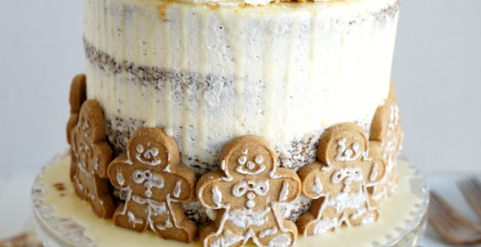vegan gingerbread layer cake