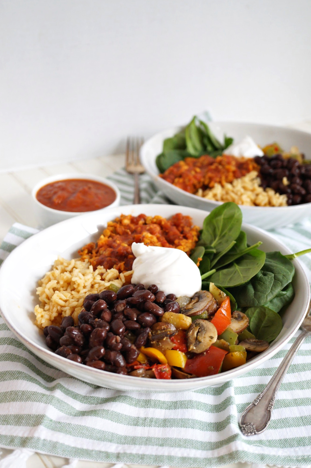 plate of taco bowl