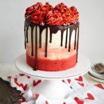 red velvet chocolate chip cake