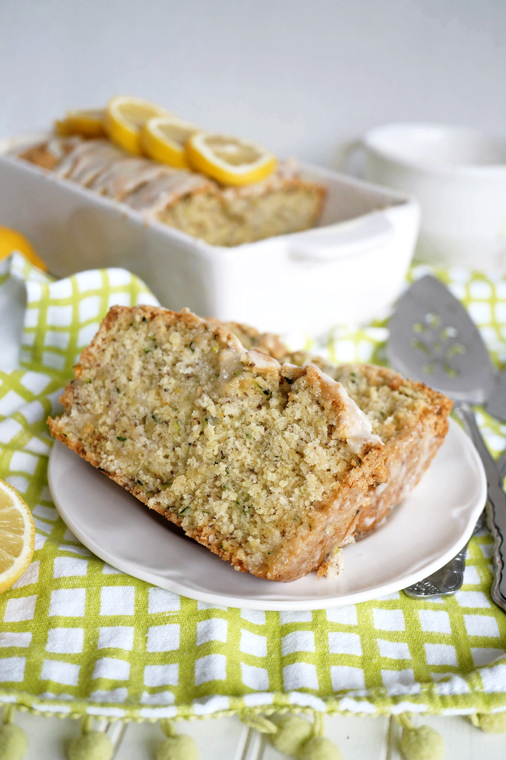 slices of lemon zucchini cake