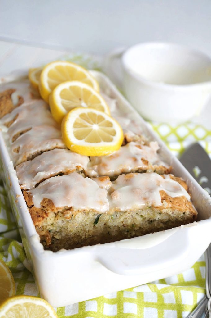 sliced lemon zucchini loaf