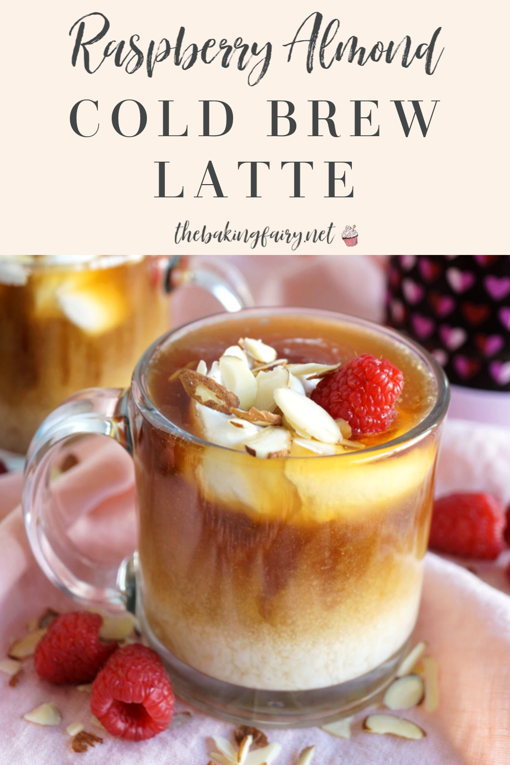 raspberry almond cold brew latte | The Baking Fairy #SpringSweetsWeek #ad