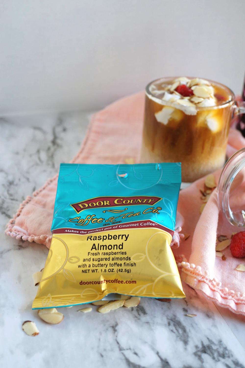 bag of raspberry almond coffee