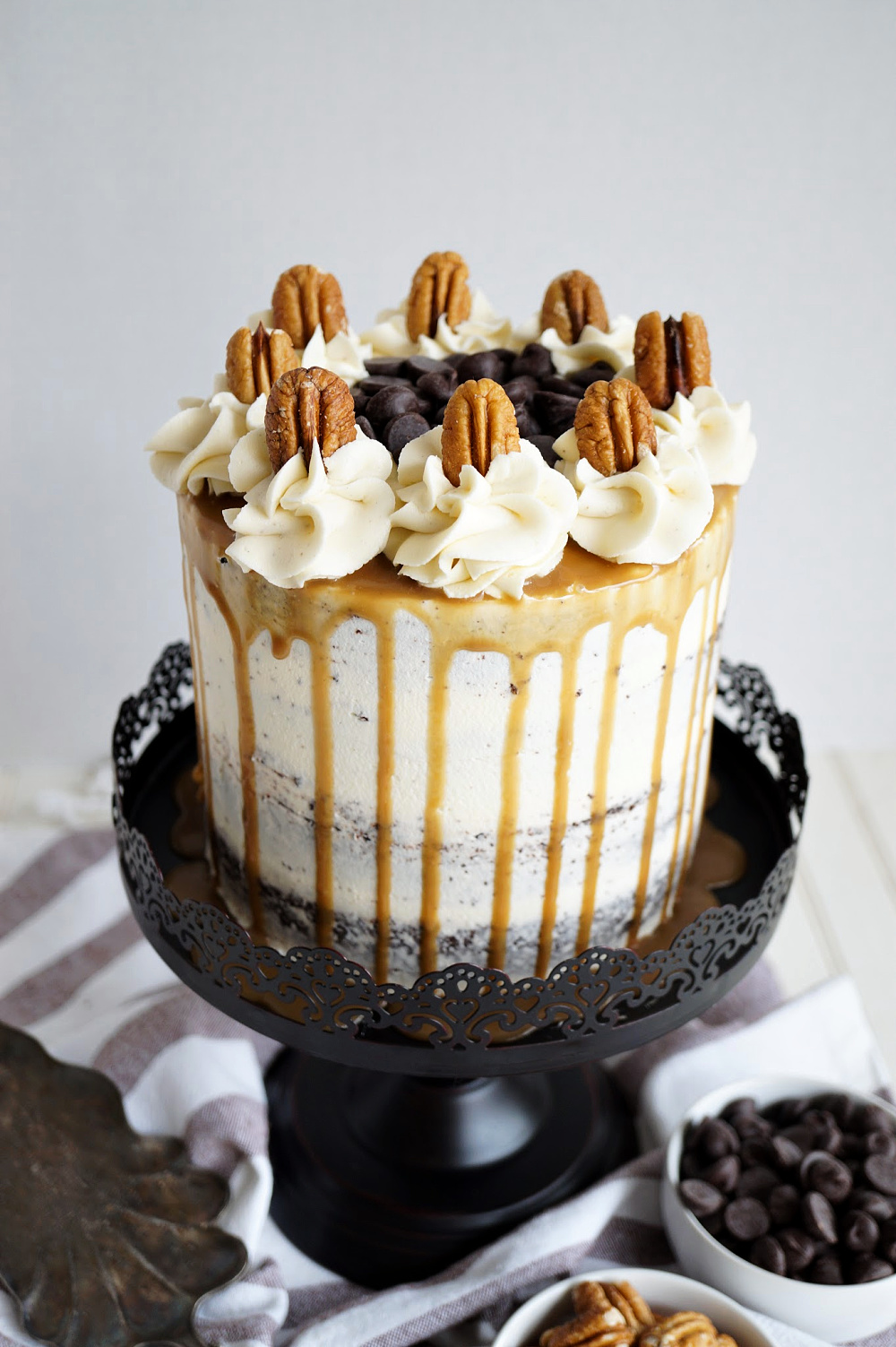 overhead shot of cake