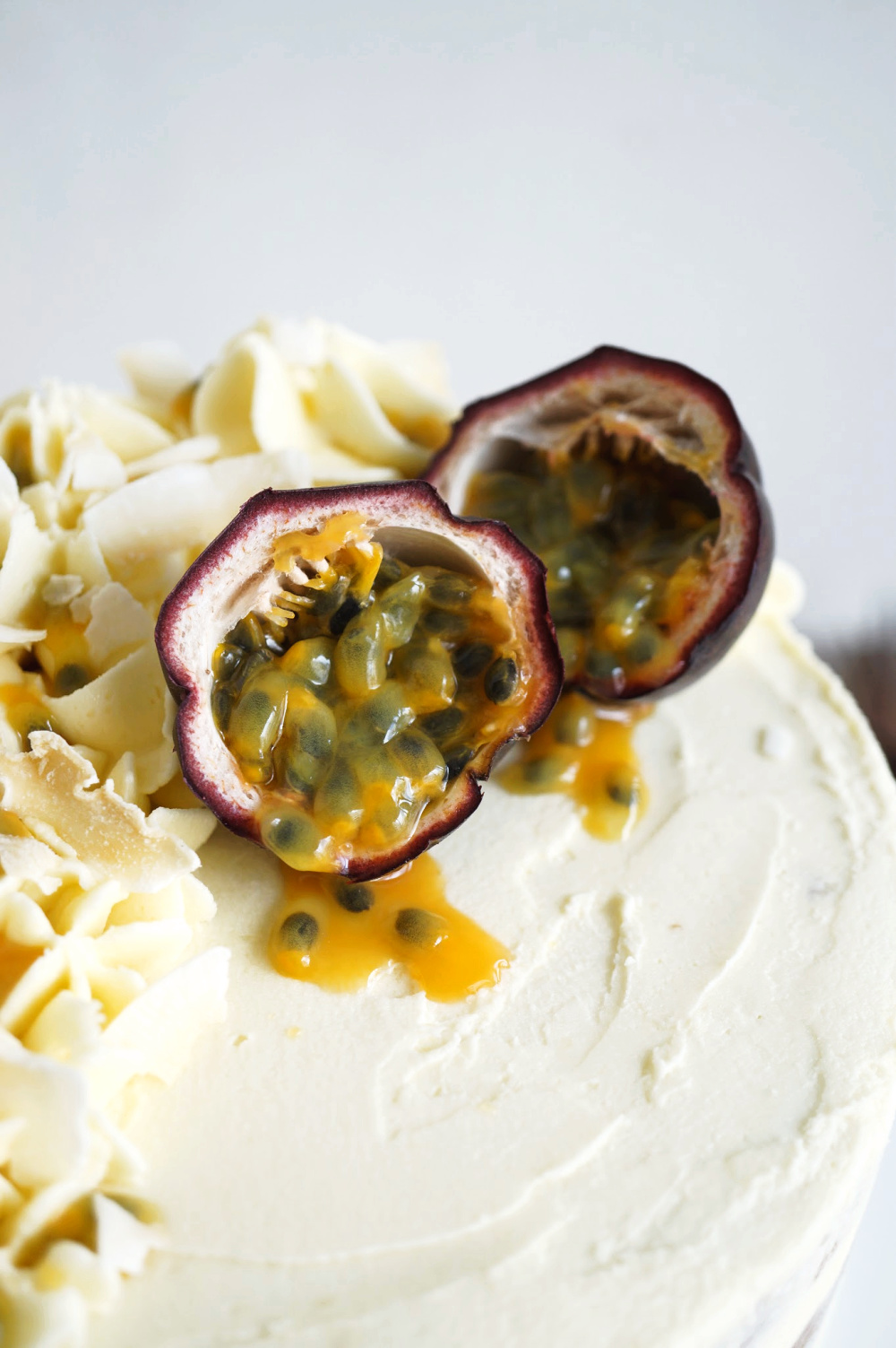 close up of passionfruit