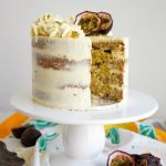coconut cake with slice cut