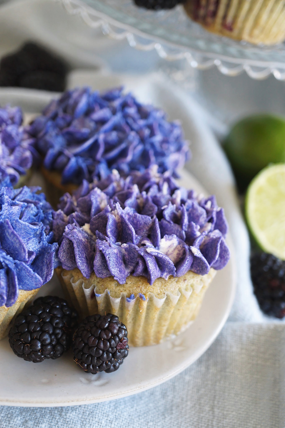 close up of hydrangea cupcakes