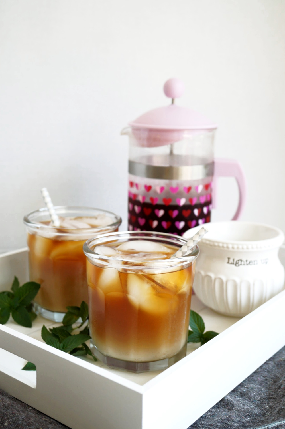 two cups of cold brew coffee
