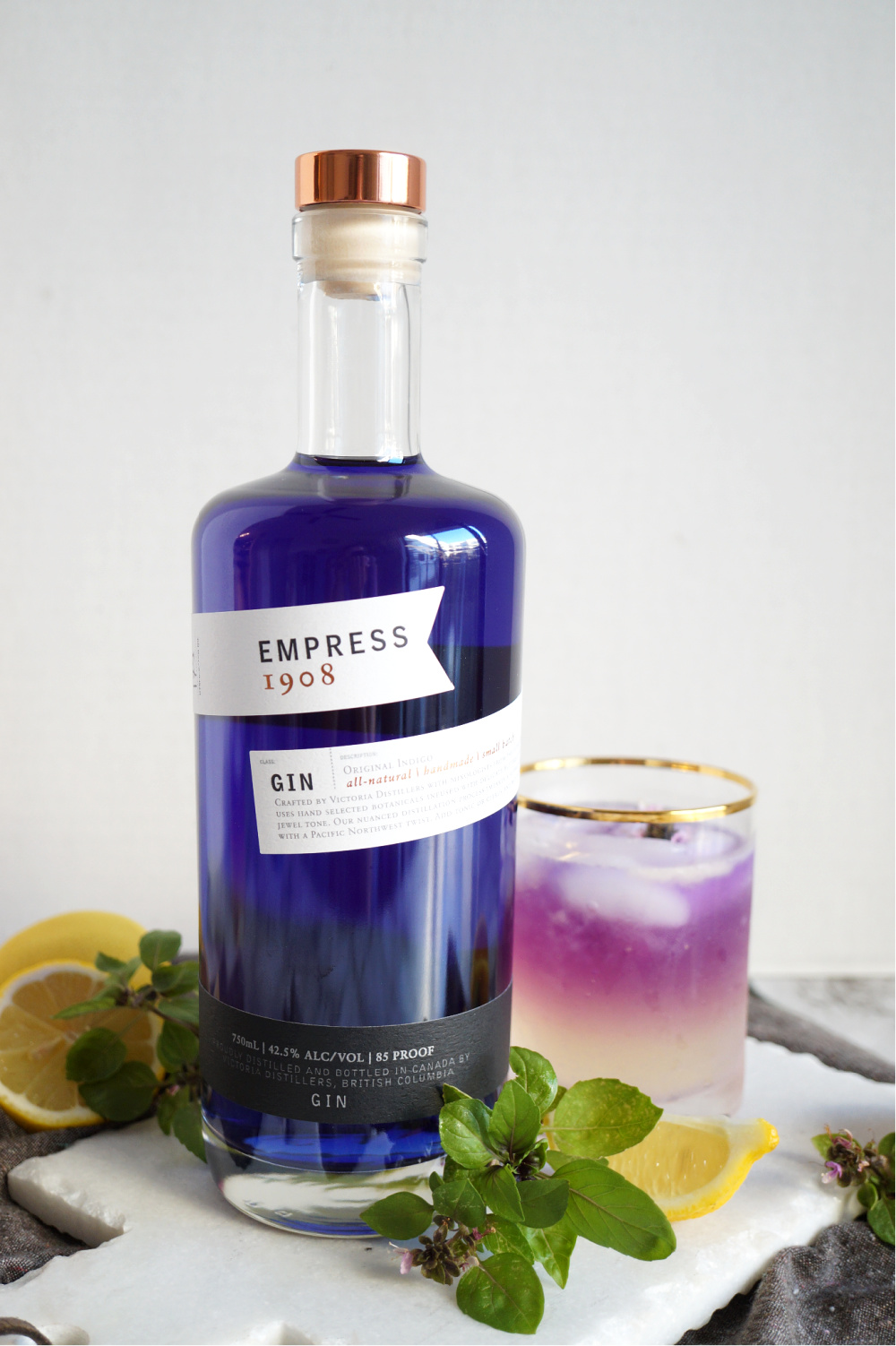 bottle of Empress 1908 gin
