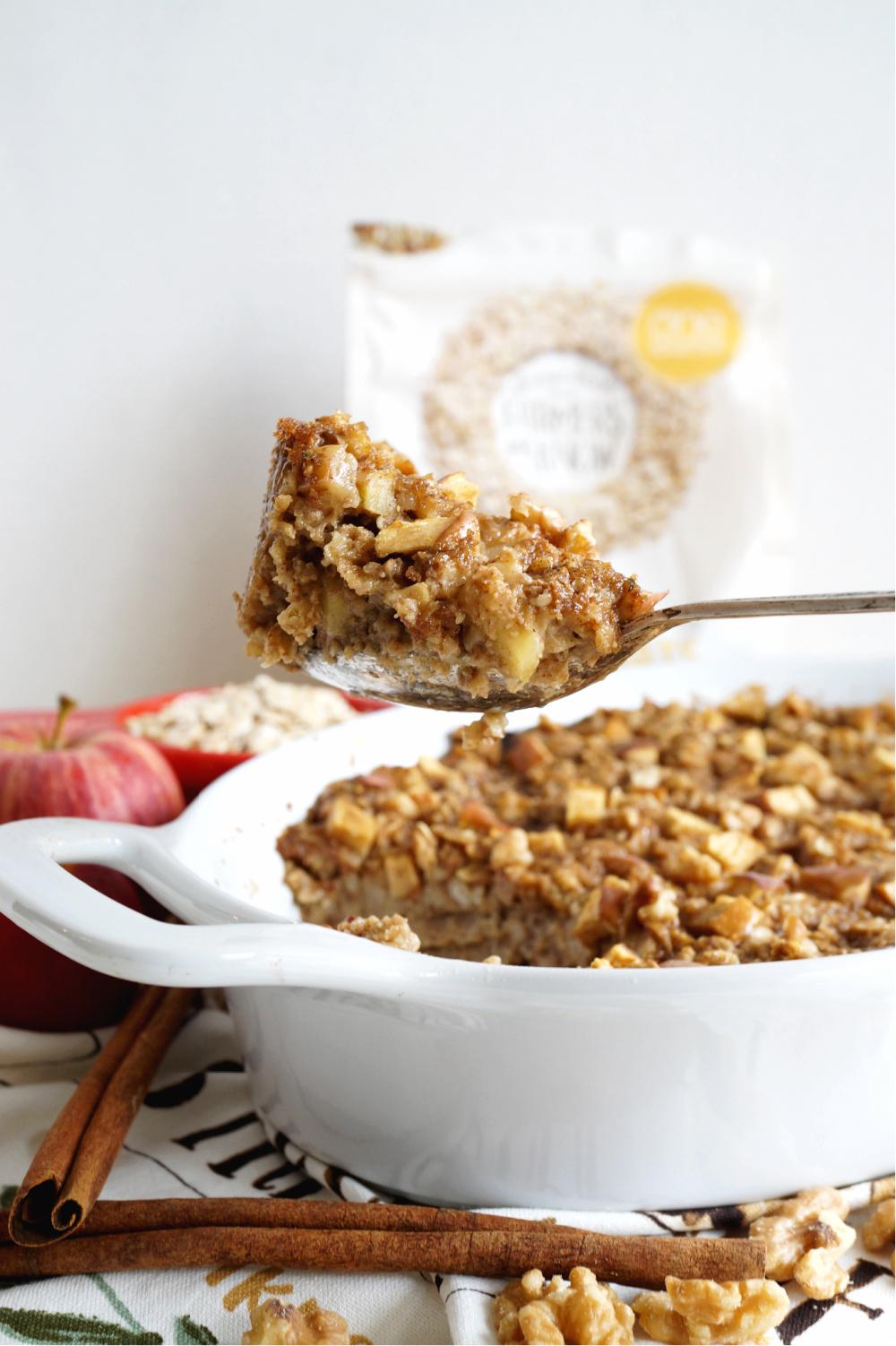 spoonful of apple oatmeal