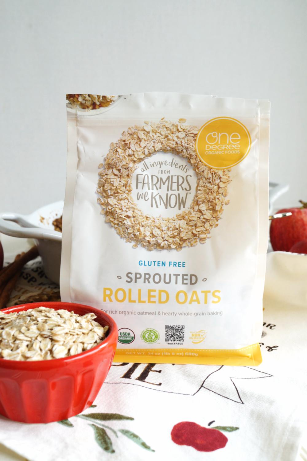 bag of One Degree Organics oats